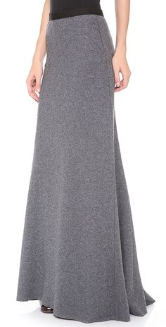 LA't by L'AGENCE Long Skirt | SHOPBOP