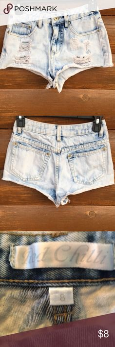 Distressed shorts Red Chilli distressed cut off shorts red chilli Shorts Jean Shorts