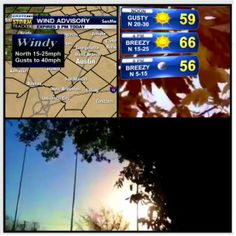 Windy!! Wind advisory for #austin til 5pm. 66 & sunny today, but FEELING much cooler! #keyewx
