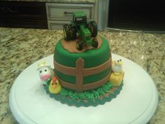 1st birthday smash cake - John Deere