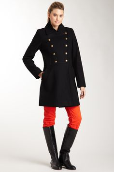 Tommy Hilfiger Kelcey Military Wool Coat If only Houston was cold enough to wear this