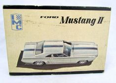 Vtg 1963 IMC 1/25 Scale Ford Mustang II Model Kit with Box Unassembled 109-200 #IMC