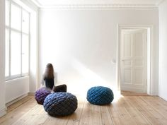 Sasha Fefelova : Poufs Knotty - ArchiDesignClub by MUUUZ - Architecture & Design