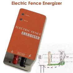 10KM Electric Fence Energizer Charger for Animals Electric Fencing Controller of Cow Sheep Horse Deer Bear Pig Goat Dog Chicken
