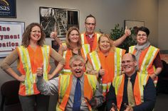 "KDOT employees in Topeka participate in Go Orange in Kansas. By ""going orange"" we are telling highway construction and maintenance workers how much their efforts are appreciated, and we are helping to raise awareness of the need for safety in work zones."