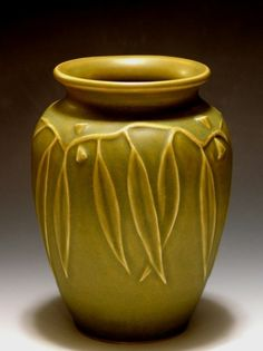 Eucalyptus Vase in Leaf Green by JWArtPottery on Etsy