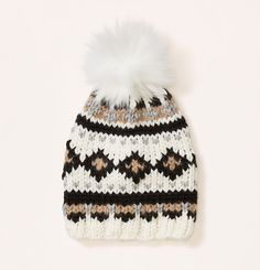 Faux Fur Fair Isle Pom Pom Hat | Loft