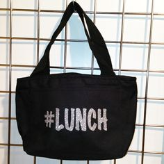 Glitter #Lunch Insulated Lunch Bag (Black) - LikeWear Insulated Lunch Bags, Reusable Tote Bags, Glitter, Black, Black People, Sequins, Glow