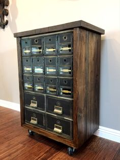 Reserved For Hanniel   Vintage Industrial Post Office Box Cabinet: Divided  Block Of 24 Aluminum U0026 Glass Mailbox Compartments And 4 Drawers