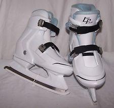 Girl's 2-3-4 Adjustable 5715 White Blue LAKE PLACID Ice Figure Skates NITRO 7.7