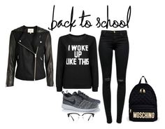 """""""woww"""" by severina185 ❤ liked on Polyvore featuring J Brand, NIKE, GlassesUSA and Moschino"""