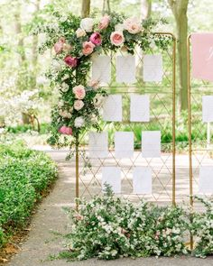 Elevee Events // Garden Trellis Inspired Escort Card Table Seating Display Chart // A Styled Fete // Winterthur Museum Wedding // Hudson Nichols Photography // Delaware Wedding // Delaware Wedding Planner Wedding Reception Venues, Wedding Signage, Reception Ideas, Wedding Table, Wedding Trellis, Copper Wedding, Boho Wedding, Table Planner, Flower Places