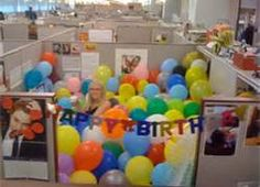 7 best birthday images cubicle ideas birthday party ideas rh pinterest com how to decorate manager office for birthday fun ways to decorate an office for a birthday