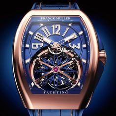 Franck Muller Vanguard Yachting #wphh2016 Red gold case tourbillon Gravity movement #franckmuller #vanguard #yachting #tourbillon #gravity #finewatchmaking #hautehorlogerie by relogioserelogiosbr