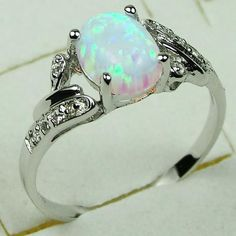 Other Rings - MARYKAY - GORGEOUS WHITE FIRE OPAL RING SET IN ...