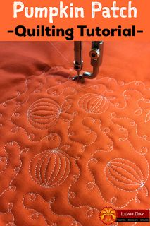 Learn how to machine quilt Pumpkin Patch, a beautiful free motion quilting design that's perfect for the fall. Find the video tutorial here: http://freemotionquilting.blogspot.com/2017/10/machine-quilt-easy-pumpkin-patch.html