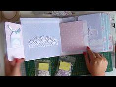Tutoriel mini album scrap 19x19 - PARTIE 5 - Collection Shabby Dreams de FDECO - YouTube