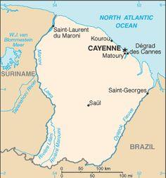 French Guiana-CIA WFB Map.