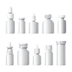 Medical bottles set @creativework247