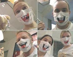 Creepy Halloween Costumes, Halloween Face Makeup, Diy Mask, Diy Face Mask, Face Masks, Dentist Humor, Dental Puns, Dental Braces, Dental Hygienist