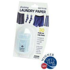 """Travel paper """"Laundry Detergent"""" # grappigecadeaus voor mannen"""