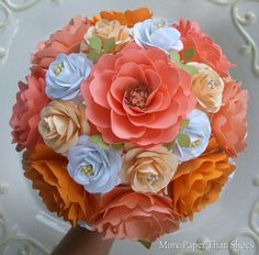 Paper flower bouquet designed by: Anna Fearer