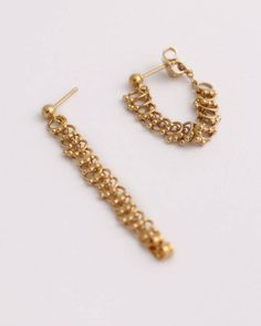 Gold Chain Earrings Gold Dangle Earrings Gold Dangle