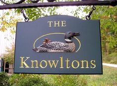 The Knowltons Property Sign   Danthonia Designs