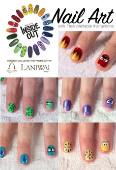 Inside Out Movie Nail art from Disney