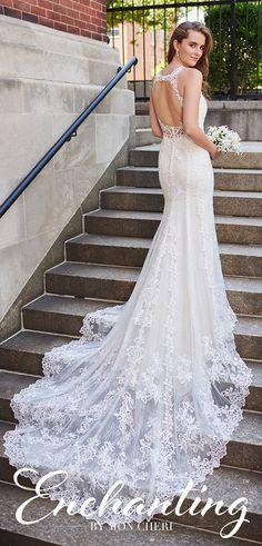 Wedding Dresses Ball Gown Winter Wedding dress by Enchanting by Mon Cheri - 120164 Ball Dresses, Bridal Dresses, Ball Gowns, Sheath Wedding Gown, Wedding Gowns, Sophisticated Bride, Illusion Neckline, Gorgeous Wedding Dress, Mermaid Dresses