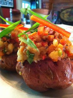 Confetti Twice-Baked Red Potatoes! Gluten Free, Vegan, Body Ecology Diet glutenfreehappytummy