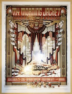 2015 My Morning Jacket - NYC Silkscreen Concert Poster by Guy Burwell