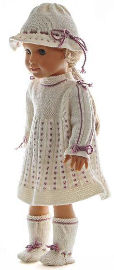 Poppenkleertjes breipatronen - Een jurk die de pop zo mooi staat, dat ze deze graag zal dragen voor elke feestelijke gelegenheid