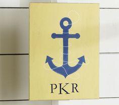 Nautical/Beach Wedding - Hamptons Anchor Plaque @ PotteryBarn.com