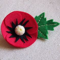 Handmade Felt Poppy Brooch - women's accessories