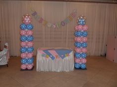Centerpiece Table Baby Boy Outfits | also decorated the table centerpieces by again using light blue and ...