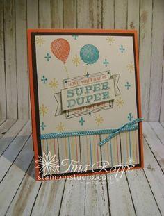 Stampin' Up! Super Duper stamp set, Cupcakes & Carousels Designer Series Paper Stack, Stampin' Studio