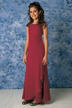 New Arrival Wine Red Junior Bridesmaid Dress with the Classic ...