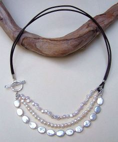 Pearls and Leather by Erin Siegel Jewelry, via Flickr