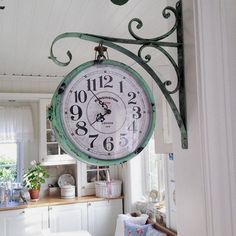 Hanging a Vintage Pharmacy Clock in Weathered Copper