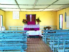 Presbyterian church in a small Fijian village.