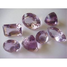 Wholesale Amethyst Lot  Amethyst Cut Stones  by gemsforjewels, 83.95