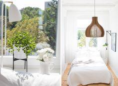 Lampenliebe auf den ersten Blick :) Die wunderschöne Bambuslampe von @TchiboDE und alles zum Thema Natural Living - gibt es auf dem Blog #tchibo #naturalliving #bambus | Bedroom Inspiration