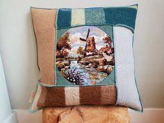 Beste afbeeldingen van kussens van retro wollen dekens in
