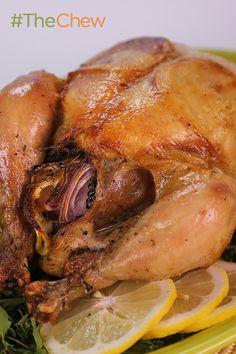 There's reasons why roasted chicken is a classic dish...super easy and super tasty! Try this Perfect Roasted Chicken by Mario Batali tonight! #TheChew