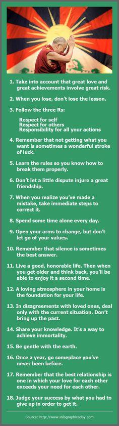 Dalai Lama: 18 Rules of Life #dalailama #Fitness Matters