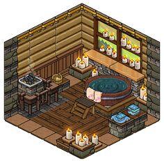 Mountain House Sauna by Cutiezor on DeviantArt