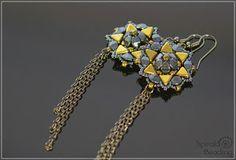 Spirala beading: Kheops Star Earrings