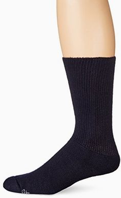 World's Softest Men's / Women's Sensitive Fit Comfort Feet Crew Socks, Women's 9-12/Men's 8.5-12, BLACK Made by #World's Softest Color #Black. Acrylic. Soft Seam technology creates an ultra-smooth toe seam to help reduce rubbing and irritation. Accepted by the American Podiatric Medical Association.. Non-binding Soft Knit top adds 40% more cross stretch for a comfortable fit. Reinforced heel offers durability.. Comfort fit design fits calves up to 18 inches.
