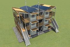 shipping container architecture and interior design news and projects Shipping Container Buildings, Used Shipping Containers, Shipping Container House Plans, Container Architecture, Sustainable Architecture, Sustainable Design, Contemporary Architecture, Cargo Container, Container House Design